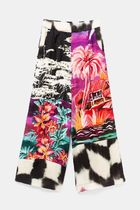 Desigual Flower Patterns Casual Style Medium Long Culottes