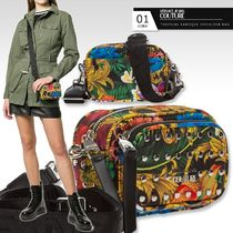 VERSACE Tropical Patterns Casual Style Unisex Studded Elegant Style