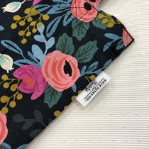 Rifle Paper.Co Flower Patterns Casual Style A4 Shoulder Bags