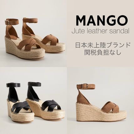 Formal Style  Platform Round Toe Casual Style Plain Leather