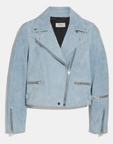 Coach Suede Street Style Plain Medium Varsity Jackets