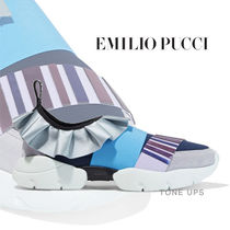 Emilio Pucci Round Toe Rubber Sole Casual Style Slip-On Shoes