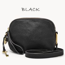 Fossil Casual Style Plain Leather Crossbody Shoulder Bags