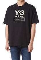 Y-3 Pullovers Unisex Street Style U-Neck Collaboration Plain