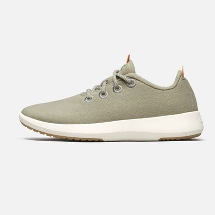 Casual Style Street Style Plain Khaki Low-Top Sneakers