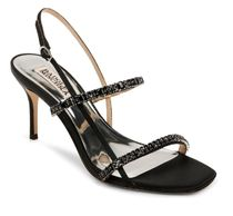 Badgley Mischka Open Toe Plain Party Style With Jewels Elegant Style Sandals