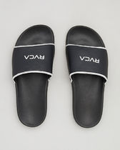 RVCA Open Toe Rubber Sole Casual Style Shower Shoes Flip Flops