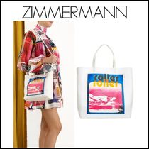 Zimmermann Casual Style A4 2WAY Leather Totes