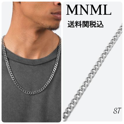 Street Style Chain Plain Stainless Necklaces & Chokers
