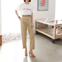 Casual Style Street Style Plain Cotton Medium Long Midi