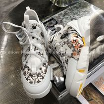 Christian Dior Flower Patterns Low-Top Sneakers