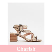 New Look Blended Fabrics Other Animal Patterns Block Heels