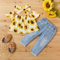 PatPat Street Style Fringes Co-ord Front Button Baby Girl Tops