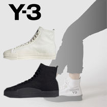 Y-3 Casual Style Unisex Street Style Plain Leather