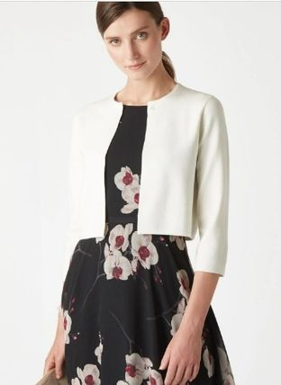 Casual Style Cropped Plain Medium Party Style Office Style