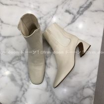 Jil Sander Plain Leather Chelsea Boots Ankle & Booties Boots
