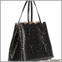 Azzedine Alaia Bag in Bag Leather Elegant Style Totes