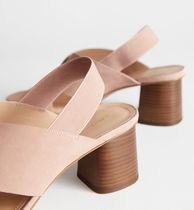 & Other Stories Square Toe Casual Style Leather Pin Heels Party Style
