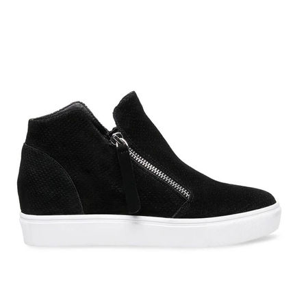 Wedge Round Toe Casual Style Suede Faux Fur Blended Fabrics
