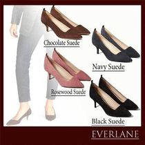 Everlane Suede Plain Party Style Office Style Elegant Style