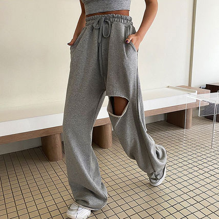 Casual Style Street Style Plain Cotton Long Short Length