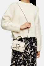 TOPSHOP Gingham Casual Style Plain Crossbody Shoulder Bags