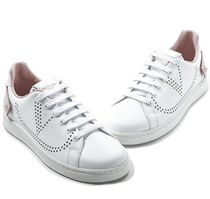 VALENTINO BACKNET Casual Style Street Style Leather Logo Low-Top Sneakers