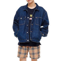 POLO RALPH LAUREN Short Faux Fur Street Style Plain Denim Jackets
