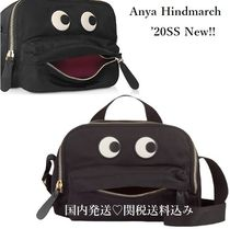 Anya Hindmarch Casual Style Nylon Blended Fabrics Plain Leather Crossbody