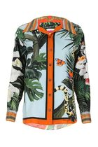 Dolce & Gabbana Tropical Patterns Casual Style Silk Long Sleeves