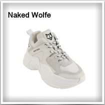 Naked Wolfe Platform Casual Style Plain Leather Office Style