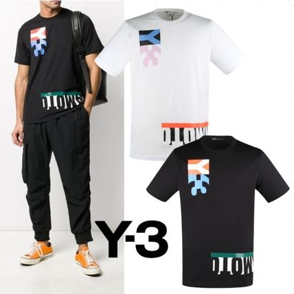 Y-3 More T-Shirts Cotton Logo Designers T-Shirts