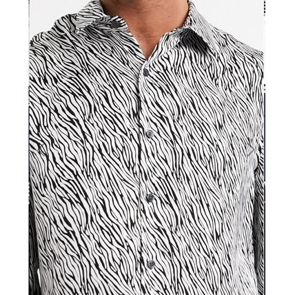 Zebra Patterns Long Sleeves Shirts