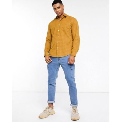 Other Plaid Patterns Long Sleeves Cotton Shirts