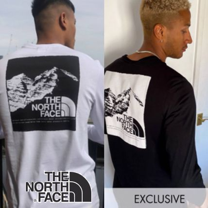 THE NORTH FACE Long Sleeve Street Style Long Sleeves Plain Cotton Long Sleeve T-shirt