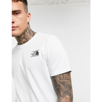 THE NORTH FACE More T-Shirts Street Style Plain Cotton Short Sleeves Logo Outdoor 5