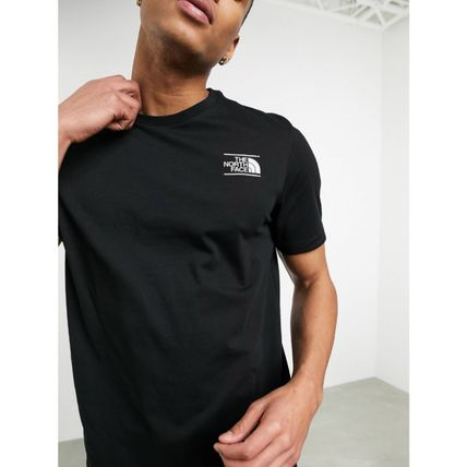 THE NORTH FACE More T-Shirts Street Style Plain Cotton Short Sleeves Logo Outdoor 8