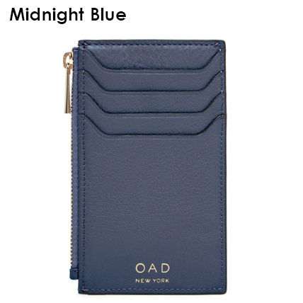 Plain Leather Long Wallet  Small Wallet Logo Card Holders