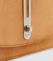 REISS Suede Chain Plain Party Style Elegant Style Crossbody
