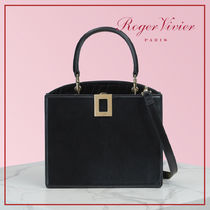 Roger Vivier Blended Fabrics 3WAY Plain Other Animal Patterns Leather