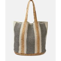 minelli Stripes Casual Style Office Style Totes