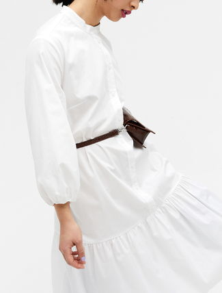 Casual Style A-line Flared Cropped Plain Cotton Medium Long