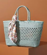 Anthropologie Flower Patterns Street Style Plain Leather Icy Color