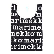 marimekko Stripes Flower Patterns Nylon A4 Logo Shoppers
