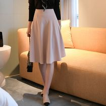 Flared Skirts Casual Style Plain Medium Office Style