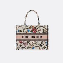 Christian Dior BOOK TOTE Flower Patterns Casual Style Unisex Street Style Party Style