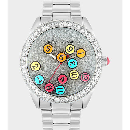 Casual Style Round Quartz Watches Office Style
