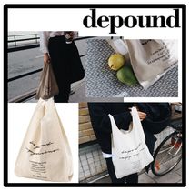 depound Casual Style Unisex Street Style Totes