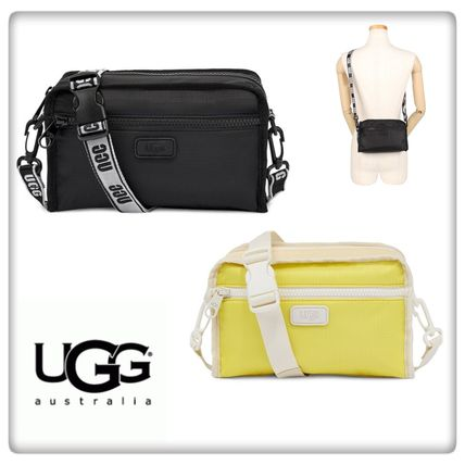 UGG Australia Casual Style Unisex 3WAY Plain Crossbody Logo Hip Packs