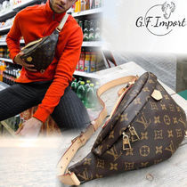 Louis Vuitton BUMBAG Unisex Street Style Leather Crossbody Bag Logo Belt Bags